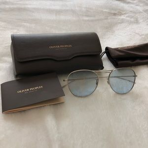 Oliver peoples blue tinted sunglasses